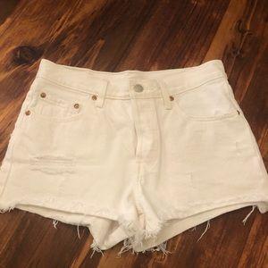 Levi Women's White Jean Shorts